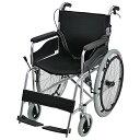 送料無料 車椅子 アルミ合金製 黒 約12kg 背折れ 軽量 折り畳み 自走介助兼用 介助ブ