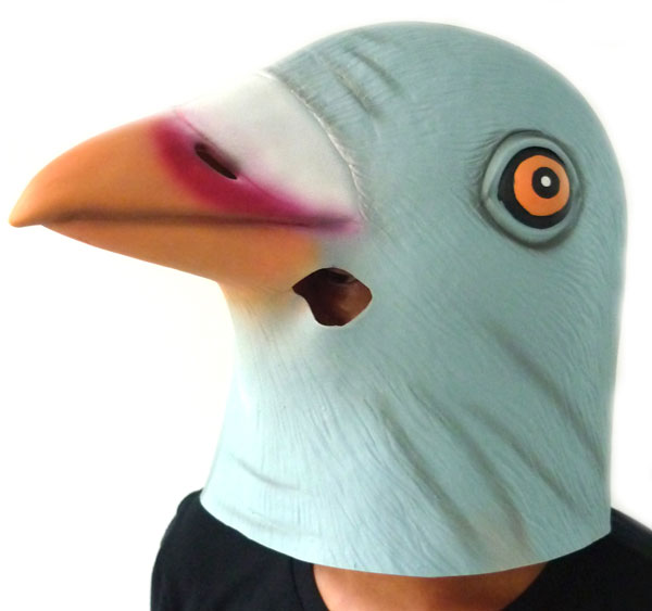 アニマルマスク ハト 平和のシンボル 鳩のラバーマスク 鳥かぶりもの