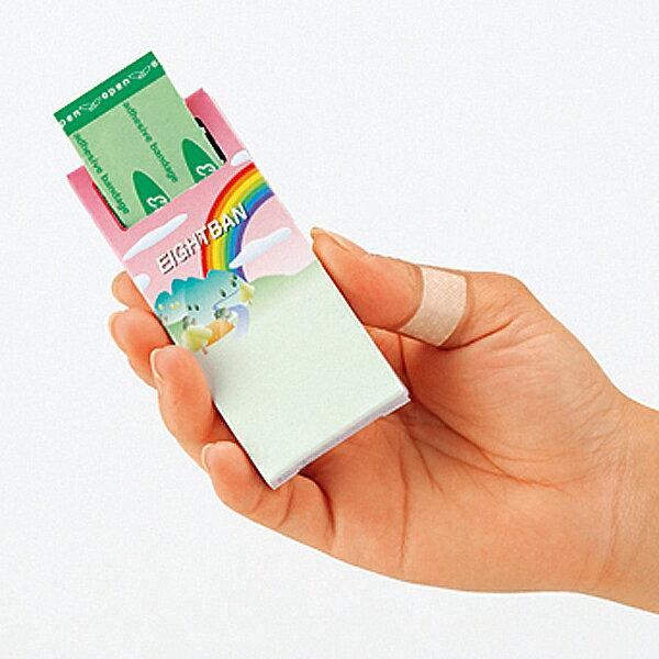 プッシュエイトバン 10枚入 100個以上販売 まとめ割 絆創膏 ノベルティ 販促品 景品 記念品 消耗品