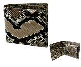 【本ニシキヘビ革仕様】パイソン無双2つ折財布(内側もパイソン仕上げ)贅沢にニシキヘビ皮使用しました