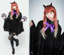 ハロウィン コスチューム レディース 黒猫ポンチョ サクッと...