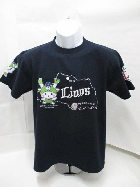 埼玉西武ライオンズ&ふっかちゃん コラボTシャツ2014年デザイン ネイビー...:golf-fukaya:10000650