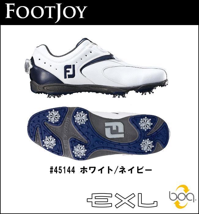 【ポイント10倍!】フットジョイ FOOTJOY EXL Boa シューズ 45144 ホワイトネイビー 2016 【送料無料】2016年