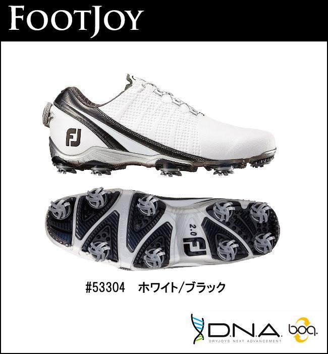 【ポイント10倍!】FOOTJOY【フットジョイ】DNA Boa シューズ 53304 ホワイトブラック 【送料無料】【2016年モデル】【フットジョイ】【ディーエヌエーボア】【ホワイトブラック】FOOTJOY DNA Boa ゴルフシューズ 53304