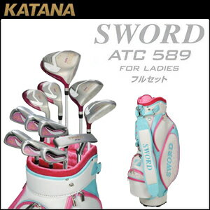 劍 ATC589 套 12 件,武士刀高爾夫婦女高爾夫球袋球童