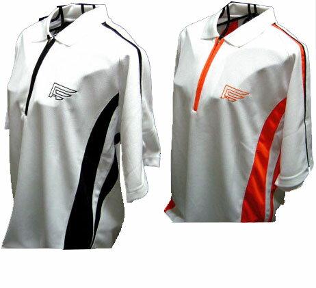 2枚購入で送料無料トラッドデザインファウンダースメンズゴルフウェアハーフジップ半袖ポロシャツFC41