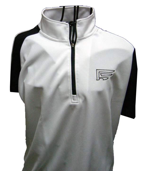 2枚購入で送料無料トラッドデザインファウンダースメンズゴルフウェアハーフジップ半袖ハイネックポロシャ