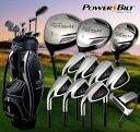 POWERBILT Grand Slam パワービルト グランドスラム レフティ 左用 メンズ ゴルフフルセット キャディーバッグ付き