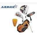 【3~6才用】 AZROF アズロフ ジュニア ゴルフセット (身長90~110cm) オレンジ 右打ち用 子供用 お始めセット 男の子 女の子