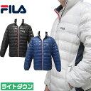 【税込9,800円】 フィラゴルフ トリコロール ダウンジャケット フリース素材とダウンで暖かく保温 軽くて動きやすいダウンジャケット メンズ ゴルフウェア FILA Golf 786-211