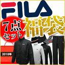 FILA 2018年モデル 福袋 7点セット+バッグ付き メンズ フィラ ゴルフ 男性用 シンプ
