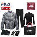 FILA 2019年モデル 新春 福袋 6点セット+バッグ付き メンズ フィラ ゴルフ 男性用 シン