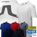 【店頭展示品】 J・リンドバーグ ゴルフ 半袖ロゴポロシャツ 吸汗速乾 4wayストレッチ