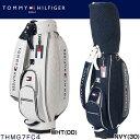 トミー ヒルフィガー ゴルフ TOMMY HILFIGER THキルト キャディバッグ THMG7FC4 ◆ ゴルフ用品 ゴルフバッグ ラウンド用品 Caddie bag カートバッグ ホワイト 白 ネイビー