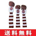 【ゆうメール配送3個セット】 ポンポン ニット 英国旗 ヘッドカバー (#1・#3・#5) HC-WOOLMA-SET 【ゴルフ】