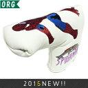 オリジナル ホワイト スパイダーマン PUレザー ブレードパターカバー 170-2 【200円ゆうメール対応】 【ゴルフ】