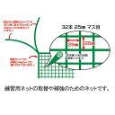 【送料無料】 ライト M-125 ゴルフ練習ネット用 取替・補強 規格ネット(3m×3m) 【ゴルフ】