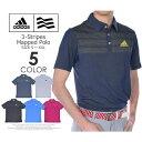 アディダス ゴルフ メンズウェア 3ストライプ マップド 半袖ポロシャツ 大きいサイズ USA直輸入