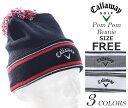 キャロウェイ キャップ 帽子 メンズキャップ メンズウエア ゴルフウェア ポン ポン ビーニー