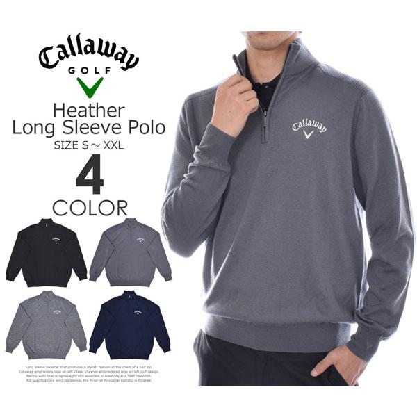 キャロウェイCallaway長袖メンズゴルフウエア1/4ジップメリノ長袖セーター大きいサイズUSA直
