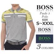 (ポイントUP★商品)ヒューゴボス HUGO BOSS ゴルフウェア メンズウェア ゴルフ ポール 3 半袖ポロシャツ 大きいサイズ USA直輸入 あす楽対応