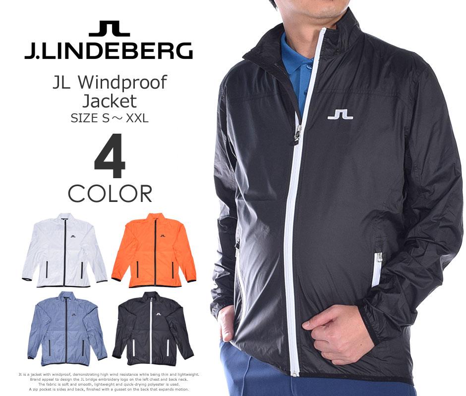 (在庫処分商品)ジェイリンドバーグ長袖メンズゴルフウェアJLウインドプルーフ長袖ジャケット大きいサイ