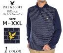 (在庫処分商品)ライルアンドスコット LYLE&SCOTT 長袖メンズウェア キルブレック 1/4ジップ 長袖セーター 大きいサイズ