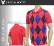 (在庫処分)(50%オフ商品)ライル&スコット アーガイル ポロシャツ ポロシャツ 大きいサイズ USA直輸入