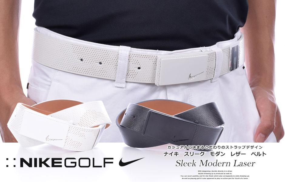 (在庫処分)ナイキNikeベルトゴルフベルトメンズゴルフウェアスリークモダンレザーベルト大きいサイズ