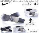 ナイキ ベルト ゴルフベルト メンズ ゴルフウェア リバーシブル ボールマーカー ベルト 大きいサイズ USA直輸入