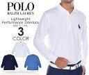 (在庫処分商品)ポロゴルフ ラルフローレン 長袖メンズウエア ライトウェイト パフォーマンス インターロック 長袖ポロシャツ 大きいサイズ