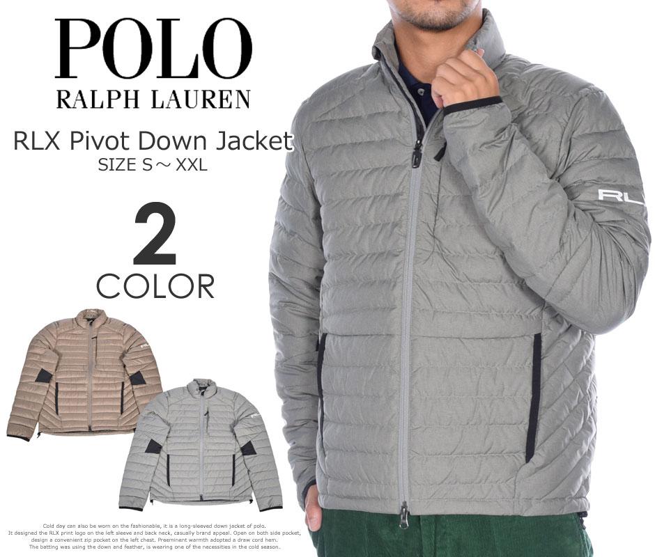 ポロゴルフ ラルフローレン 長袖ブルゾン メンズウエア RLX ピボット 長袖ダウンジャケット 大きいサイズ