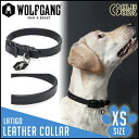 ╝є╬╪ ╛о╖┐╕д═╤ XSе╡еде║ WOLFGANG MAN&BEAST Latigo LEATHER COLLAR еье╢б╝ ╦▄│╫б┌┼╣╞м╝ї╝ш┬╨▒■╛ж╔╩б█