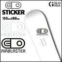 ステッカー AIRBLASTER DIECUT STICKER Mサイズ エアーブラスター カッティング 字抜き スノーボード ウェアー【店頭受取対応商品】 align=