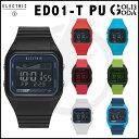 時計 ELECTRIC ED01-T PU エレクトリック デジタルウオッチ 腕時計 防水 TIDE タイドグラフ メンズ レディース