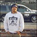 【予約】THE LOS ANGELES RIVER■THROW BACK CREW ロサンゼルス リバー スエット スウェット スノーボード スノボ パーカ 1...