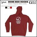 16-17 パーカー YOBEAT DRINK BEER HOODIE スノボーウエア パーカ フード スノーボード スノボ snowboard ヨービート