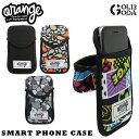 スマートフォンケース ORAN'GE Smart phone case カラビナ付き ORAN'GE オレンジ スノーボード スノボ スキー スマホケース 10...