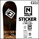 ステッカー NITRO STICKER DIECUT Sサイズ カッティング 字抜き スノーボード SNOWBOARD