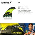 【フューチャー フィン】FUTURES FIN■TECH FLEX F4 超軽量カーボンのカットラインとハニカムコア P27Mar15