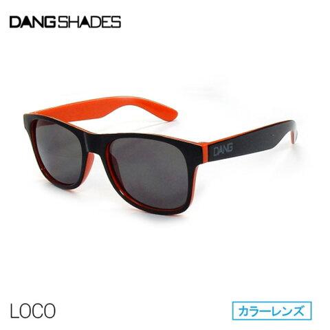 サングラス DANG SHADES ダン・シェイディーズ LOCO ロコ RAISED Black Gloss Orange Two-Tone x Black Smoke【店頭受取対応商品】