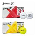 【日本正規品】 ダンロップ スリクソン SRIXON X2 エックスツー ゴルフボール 1ダース [12球入り]