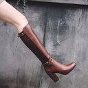 レディースブーツ ロングブーツ エンジニアブーツ ジョッキーブーツ 裏起毛 暖かい 大きいサイズ 小さいサイズ 21.5cm 26.5cm..