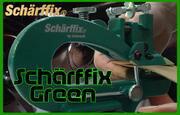 手動革漉き機 シャーフィックス【 Scharffix/GREEN】【レザークラフト 工具】
