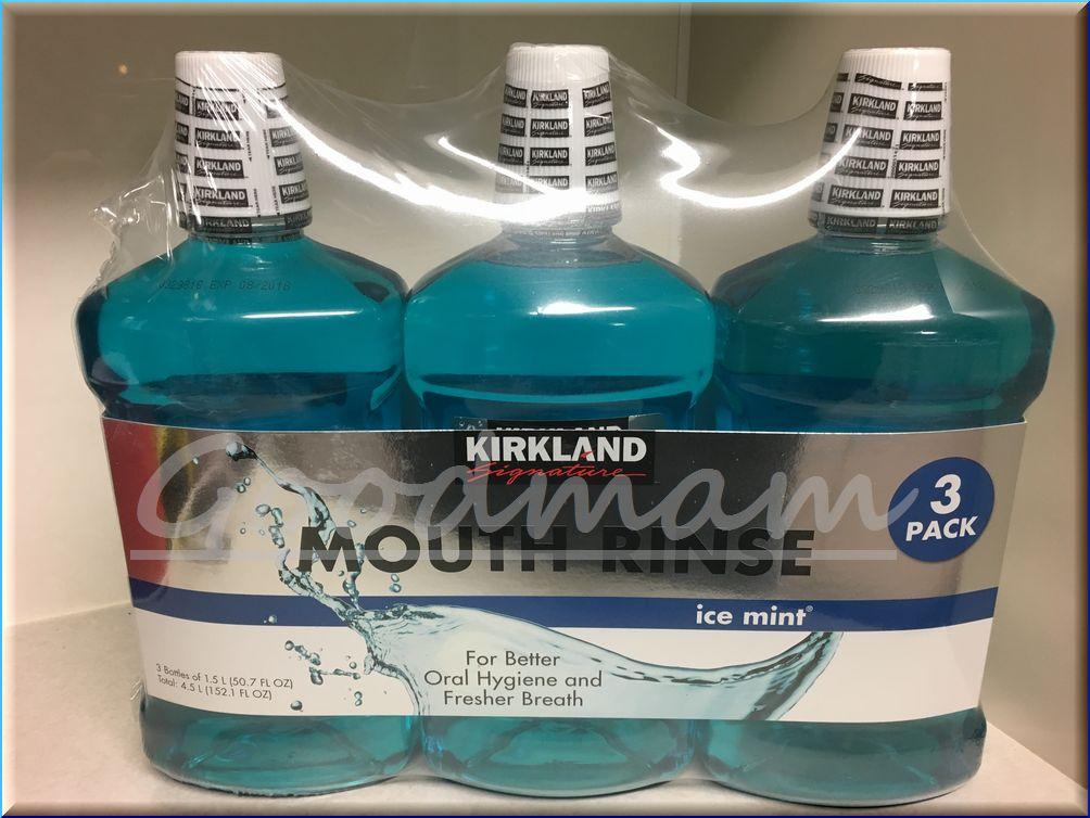 KS カークランド マウスリンス (お口の清浄液) メントール配合 1.5L×3本組 【KIRKLAND】【MouseRinse】【大容量/口臭予防/輸入/コストコ】【コストコ通販】
