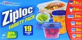 【Ziploc】ジップロック マルチパック コンテナー19個セット 食品保存容器【コストコ】【RCP】