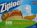4箱【Ziploc】ジップロック サンドイッチ用保存バック 125枚×4箱 入り ポイント交換に【コストコ通販】