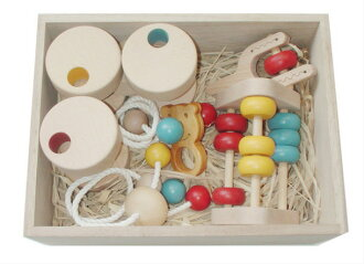 Baby Toy Box Set (D Type) Wooden Toys (Ginga Kobo Toys) Japan