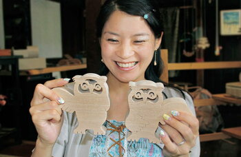 OwlCoupleWoodenToys(GingaKoboToys)Japan