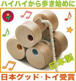 【名入れ可】■六輪車(ミニ) 日本製 プルトイ 引き車 はいはいから歩き始めの動作を促す歩き始めのの木のおもちゃ 6ヶ月 7ヶ月 8ヶ月 9ヶ月 11ヶ月 1歳 2歳 3歳 誕生日